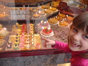 Pralinen und Kuchen in De Haan